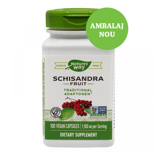 Supliment alimentar, Schisandra (580 mg) - 100 capsule [0]