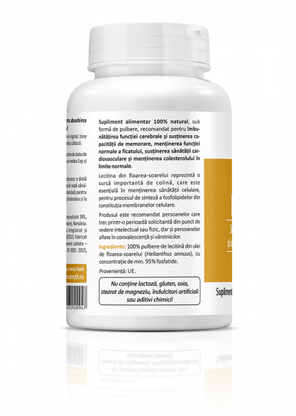 Supliment alimentar, Sun Flower Lecithin - 120 g (pulbere) [3]