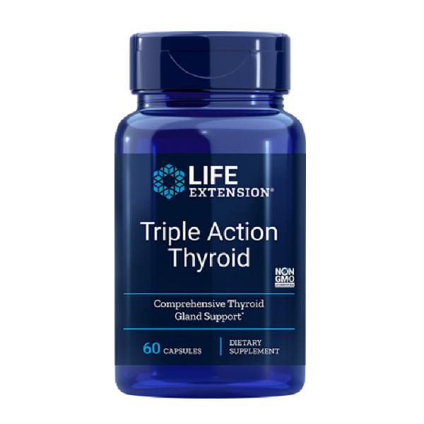 Complex pentru Glanda Tiroida, Life Extension Triple Action Thyroid - 60 capsule [0]