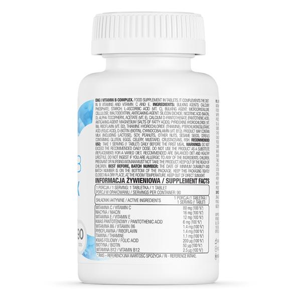 Supliment alimentar, OstroVit Vitamin B Complex - 90 comprimate (90 doze) [1]