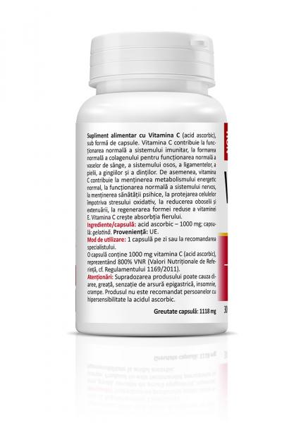Supliment alimentar, Vitamina C 1000 mg - 30 capsule [1]