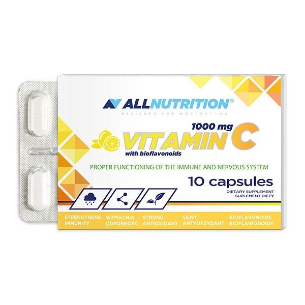 Supliment alimentar, Vitamina C (1000 mg ) cu Bioflavonoide (10 mg) - 10 capsule (10 doze) [0]