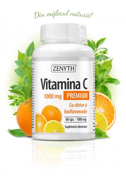 Vitamina C Premium cu citrice (1000 mg) - 60 capsule [0]