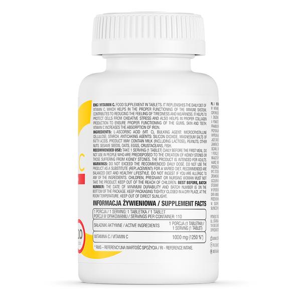 Supliment alimentar, Vitamina C (1000 mg), OstroVit Vitamin C - 110 comprimate (110 doze) [1]