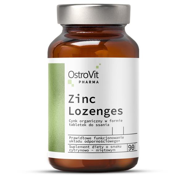 Supliment alimentar, OstroVit Pharma, Zinc Lozenges (15 mg) cu Vitamina C (80 mg) - 90 drops (90 doze) [0]