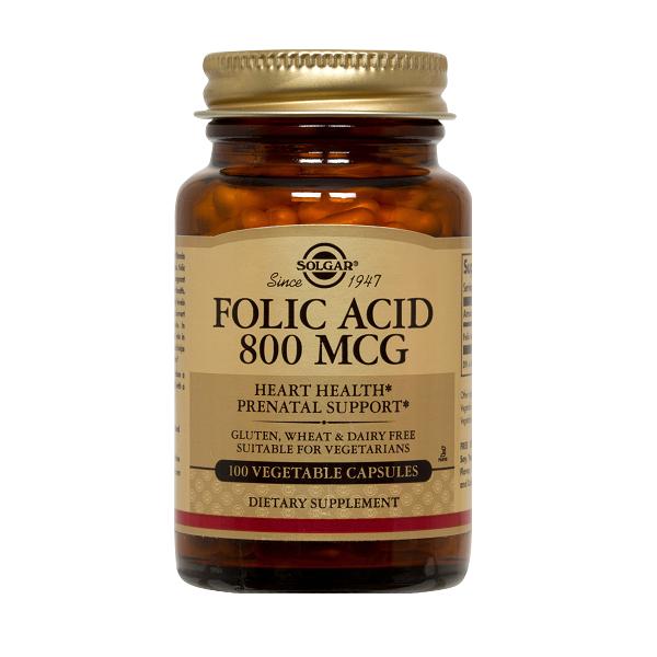 Supliment alimentar, Acid Folic, Solgar Folacin (800 mcg) - 100 tablete [0]