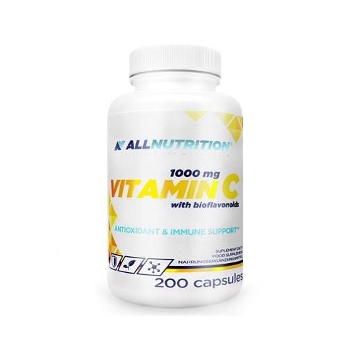 Supliment alimentar, Vitamina C (1000 mg) cu Bioflavonoide, AllNutrition Vitamin C 1000 - 200 capsule (200 doze) [0]