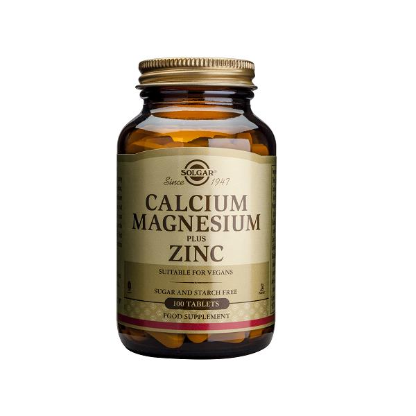 Supliment alimentar, Calciu, Magneziu, Zinc, Solgar Calcium, Magnesium + Zinc - 100 tablete [0]