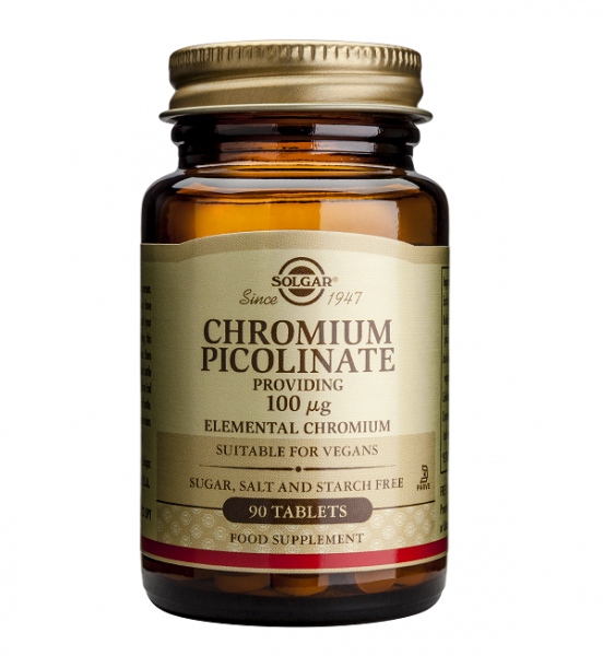 Supliment alimentar, Picolinat de Crom, Solgar Chromium Picolinate (100 mcg) - 90 capsule [0]
