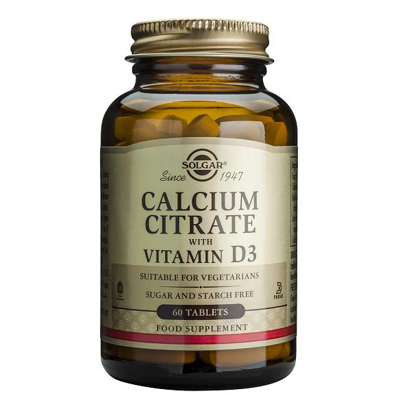 Supliment alimentar, Citrat de Calciu cu Vitamina D3, Solgar Calcium Citrate (250 mg) - 60 tablete [0]