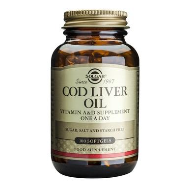 Supliment alimentar, Ulei din ficat de cod, Solgar Cod Liver Oil - 100 capsule [0]