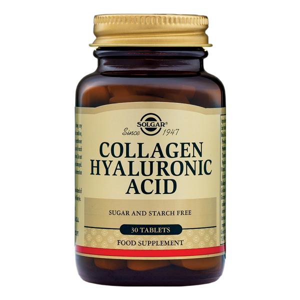 Supliment alimentar, Colagen si Acid Hialuronic, Solgar Collagen Hyaluronic Acid (120 mg) - 30 tablete [0]