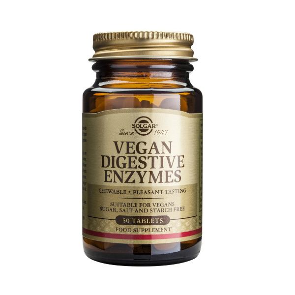 Supliment alimentar, Enzime Digestive pentru vegani, Vegan Digestive Enzymes - 50 tablete [0]