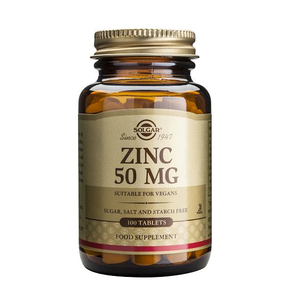 Supliment alimentar, Gluconat de Zinc, Solgar Zinc Gluconate 50 mg - 100 tablete [0]