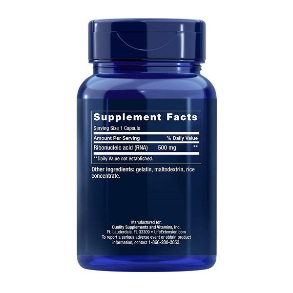 Supliment alimentar, Acid Ribonucleic (ARN) - 500 mg, Life Extension RNA (Ribonucleic Acid) - 100 capsule (100 doze) [1]