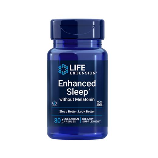 Supliment alimentar pentru Somn Linistit si Stres, fara Melatonina, Life Extension Enhanced Sleep without Melatonin - 30 capsule (30 doze) [0]