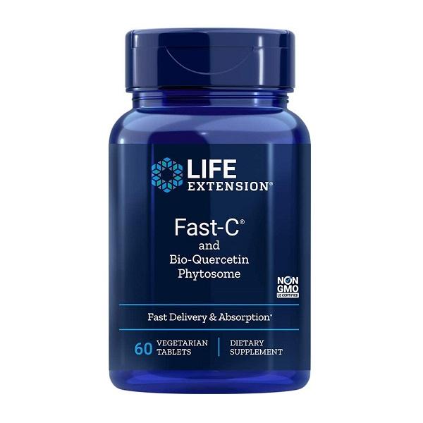 Complex Antioxidant cu Vitamina C si Quercetina, Life Extension, Fast-C® and Bio-Quercetin Phytosome - 60 comprimate (60 doze) [0]