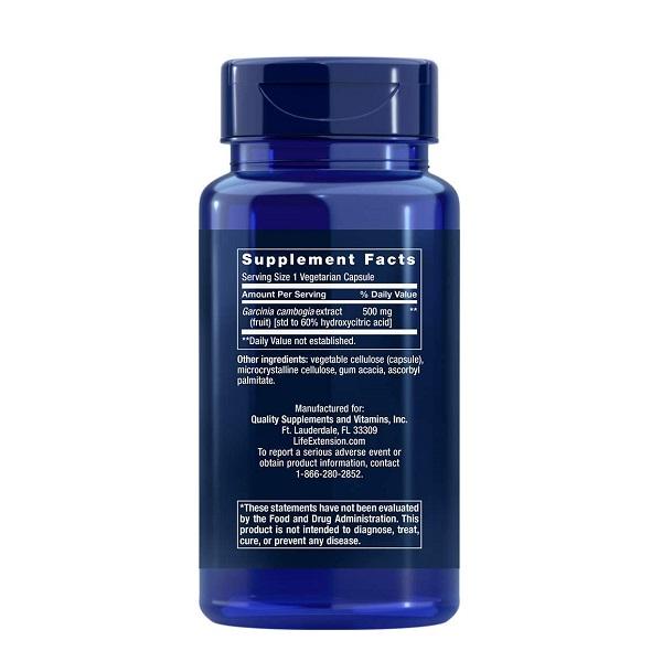 Supliment alimentar, Arzator de Grasimi si Slabit, Life Extension Garcinia HCA - 90 capsule (90 doze) [1]