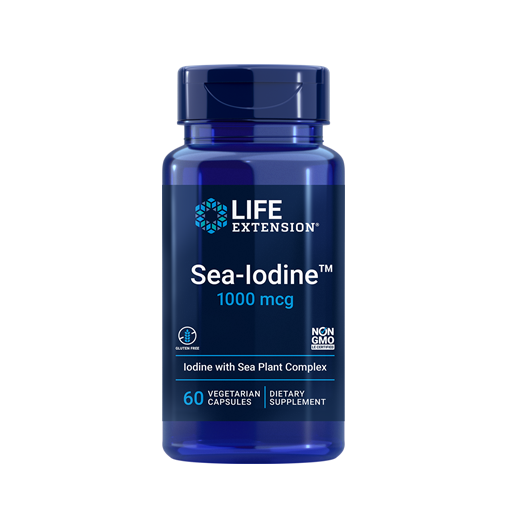 Supliment alimentar,  Iod Marin (1000 mcg), Life Extension Sea-Iodine - 60 capsule (60 doze) [0]