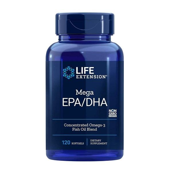 Supliment alimentar, Omega - 3 (2000 mg), Life Extension Mega EPA/DHA - 120 capsule (60 doze) [0]