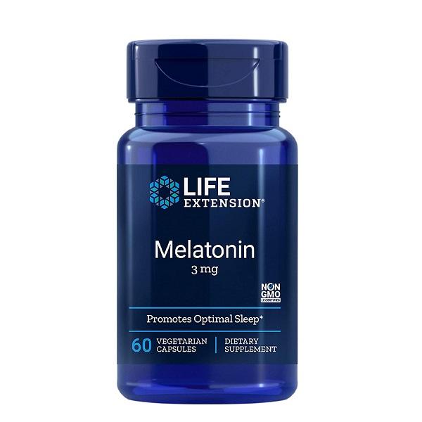 Supliment alimentar pentru Somn si Insomnie, Melatonina - 3 mg, Life Extension Melatonin - 60 capsule (60 doze) [0]