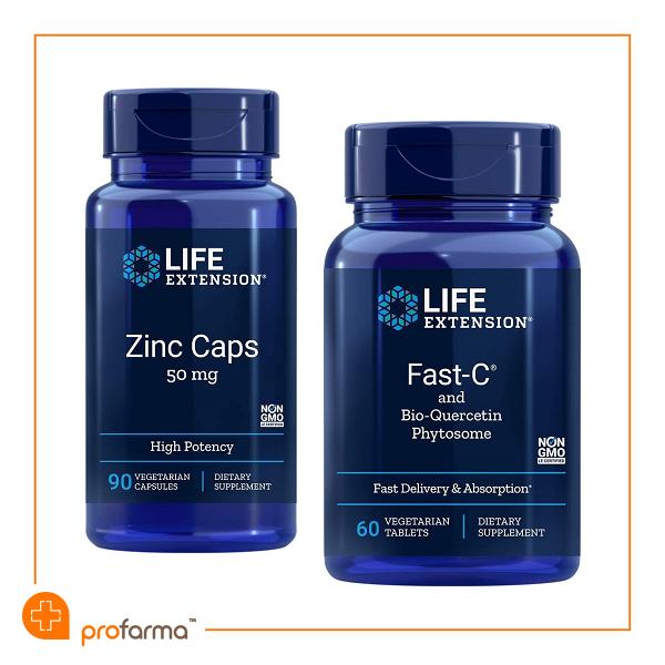 Pachet pentru Imunitate Vitamina C, Quercetina si Zinc - Life Extension - Set [0]