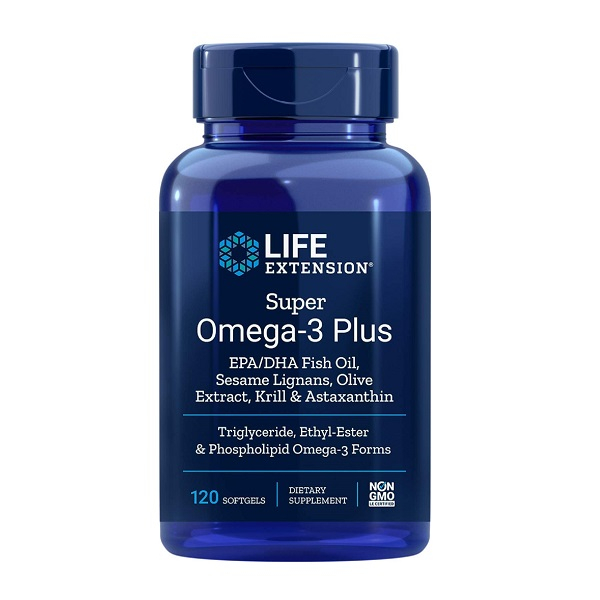 Supliment alimentar, Life Extension Super Omega-3 Plus, EPA - 750 mg, DHA - 510 mg - 120 capsule (60 doze) [0]
