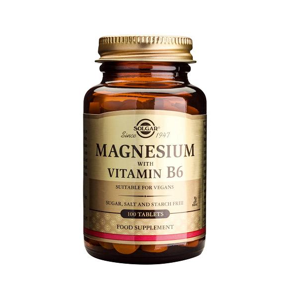 Supliment alimentar, Magneziu + Vitamina B6, Magnesium + Vitamin B6 - 100 tablete [0]