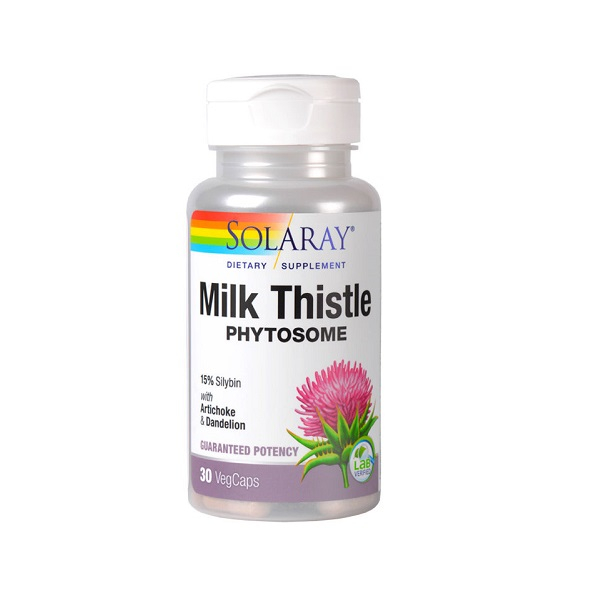 Supliment alimentar, Milk Thistle Phytosome, Solaray - 30 capsule [0]