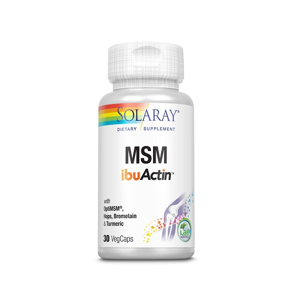Supliment alimentar, MSM ibuActin, Solaray - 30 capsule [0]