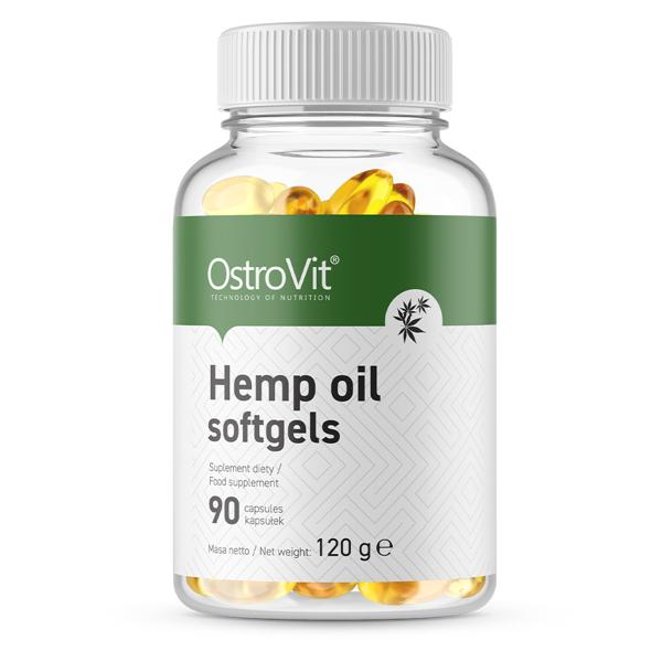 Supliment alimentar, Ulei de Canepa, OstroVit Hemp Oil - 90 capsule (90 doze) [0]