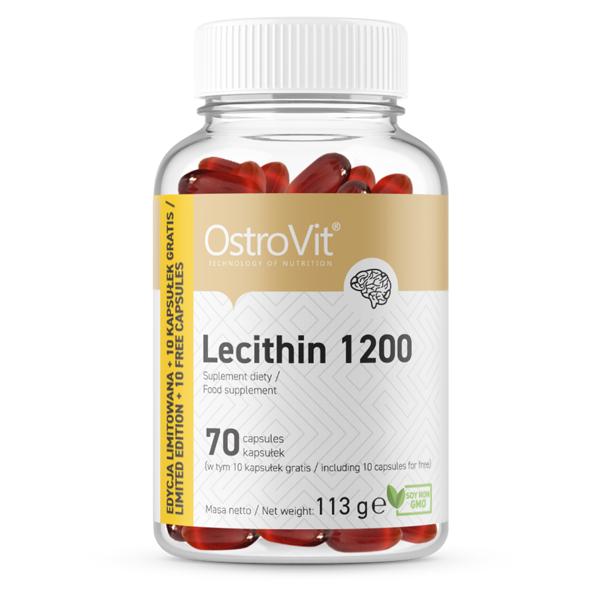 Supliment alimentar, Lecitina (1200 mg), OstroVit Lecithin 1200 - 70 capsule (70 doze) [0]