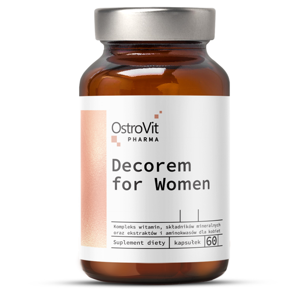 Supliment alimentar, Complex de Vitamine si Minerale, OstroVit Pharma Decorem For Women - 60 capsule (30 doze) [0]