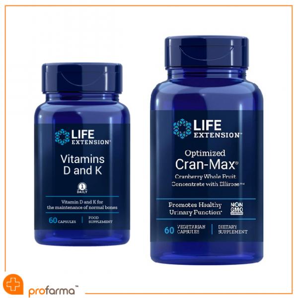 Pachet pentru Confort Urinar Feminin si Prevenirea Depunerii de Calciu in Artere, Life Extension – Set [0]