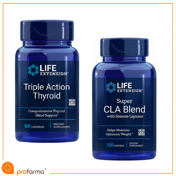 Pachet pentru Glanda Tiroida, Sistem Cardiovascular si Managementul Greutatii, Life Extension – Set [0]