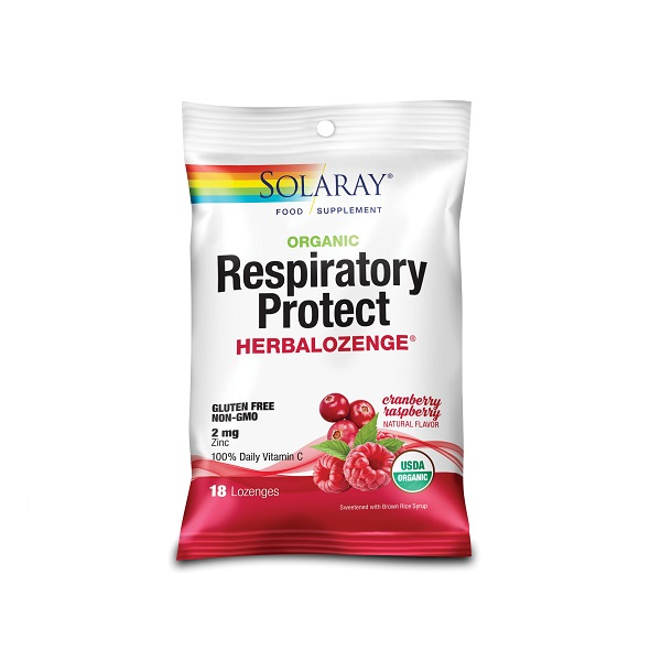 Supliment alimentar, Respiratory Protect HerbaLozenge, Cranberry Raspberry, Solaray - 18 dropsuri [0]