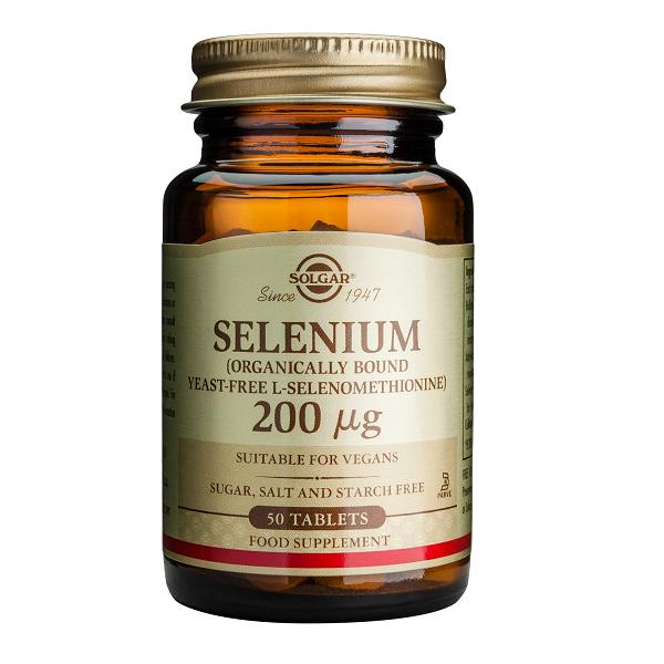 Supliment alimentar, Seleniu, Solgar Selenium (200 mcg) - 50 tablete [0]