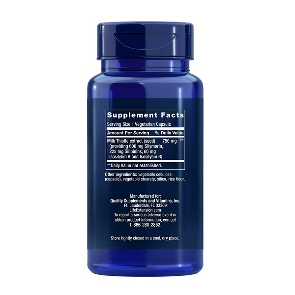 Complex Silimarina, Silibina si Izosilibina A si B (760 mg), Life Extension Advanced Milk Thistle - 60 capsule (60 doze) [1]