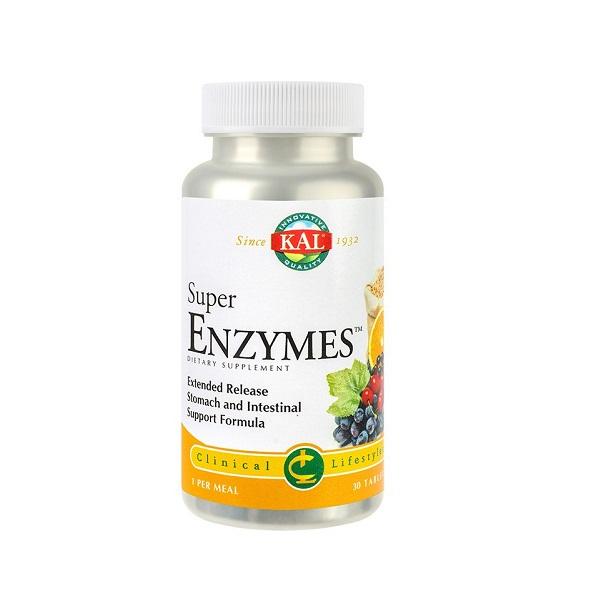 Supliment alimentar, Kal Super Enzymes™ - 30 comprimate - 30 doze [0]