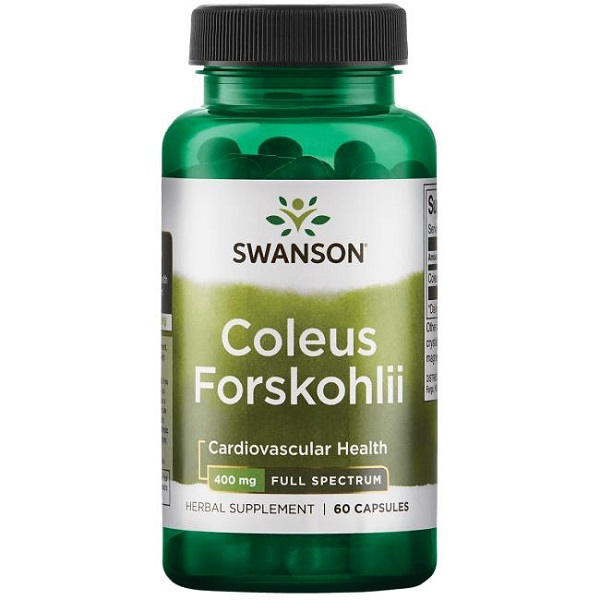 Supliment alimentar, Coleus Forskohlii (400 mg), Swanson Full Spectrum Coleus Forskohlii - 60 capsule (60 doze) [0]