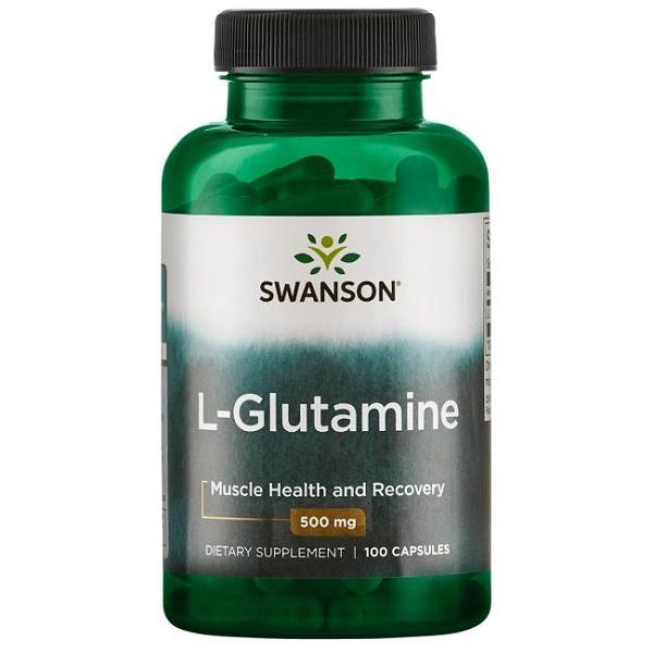 Supliment alimentar, L-Glutamina (500 mg), Swanson L-Glutamine - 100 capsule (100 doze) [0]