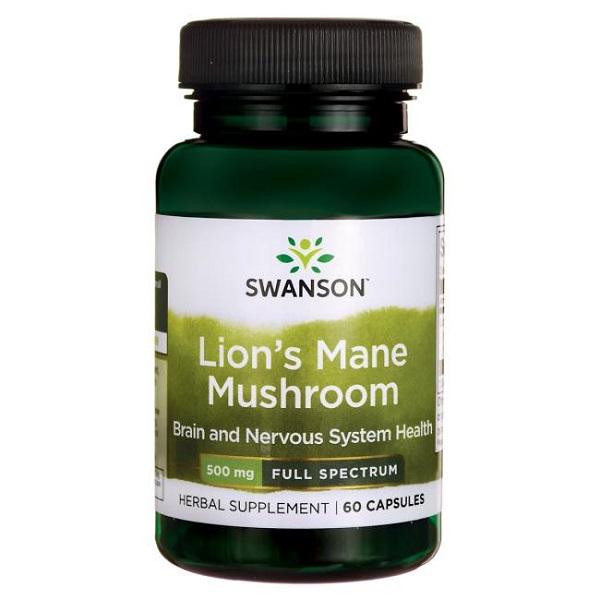 Supliment alimentar, Extract de Coama Leului (500 mg), Swanson Lion's Mane Mushroom - 60 capsule (60 doze) [0]
