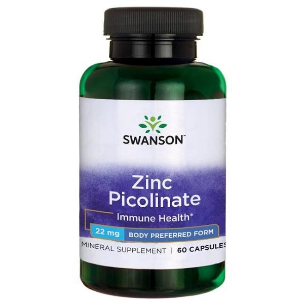 Supliment alimentar, Picolinat de Zinc (22 mg), Swanson Zinc Picolinate Body Preferred Form - 60 capsule (60 doze) [0]