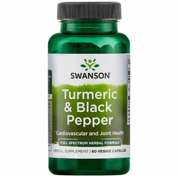 Supliment alimentar, Articulatii si Sistem Cardiovascular, Swanson Full Spectrum Formula Turmeric & Black Pepper - 60 capsule (60 doze) [0]
