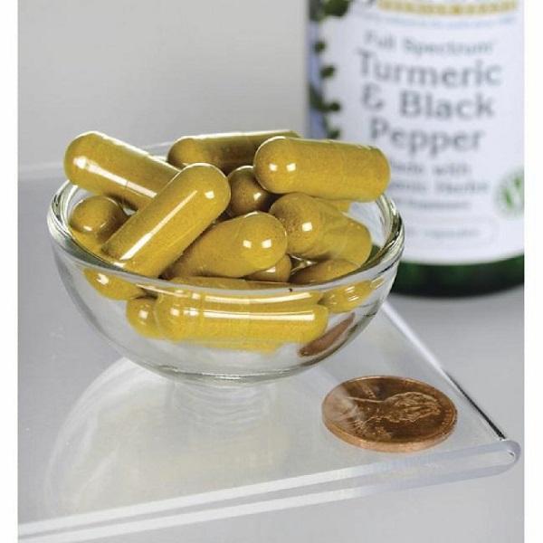 Supliment alimentar, Articulatii si Sistem Cardiovascular, Swanson Full Spectrum Formula Turmeric & Black Pepper - 60 capsule (60 doze) [1]