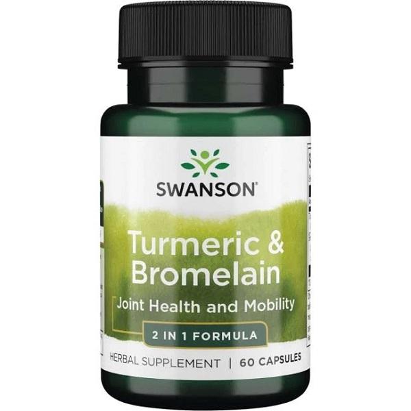 Supliment alimentar, Articulatii si Mobilitate, Swanson Turmeric & Bromelain - 60 capsule (60 doze) [0]