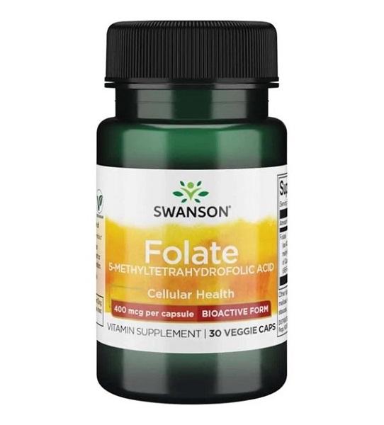 Supliment alimentar, Acid-5-Metiltetrahidrofolic (400 mcg), Swanson Ultra Folate - 30 capsule (30 doze) [0]