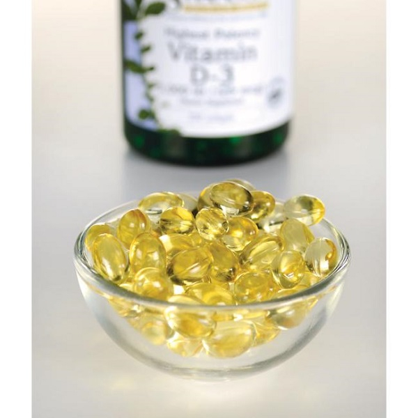 Supliment alimentar, Vitamina D3 5000 UI, Swanson Highest Potency Vitamin D3 - 250 capsule (250 doze) [2]