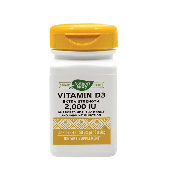Supliment alimentar, Vitamina D3, Vitamin D3 2000UI - 30 capsule [0]