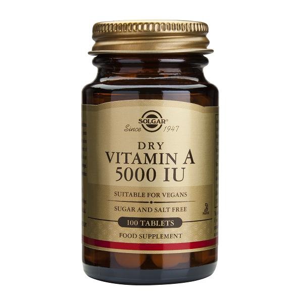 Supliment alimentar, Vitamina A, Solgar Vitamin A 5000IU - 100 tablete [0]